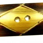 Rektangulär handgjord träknapp