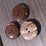 Brun marmorerad knapp