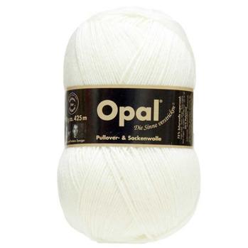 Opal, enfärgat sockgarn - 2620 Vit