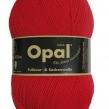 Opal, enfärgat sockgarn - 5180 Röd