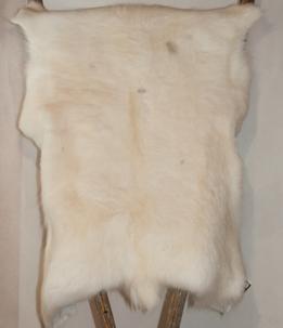 Renskinn vitt - Reindeer skin white