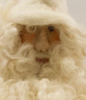 Tomte - Santa - Tomte tovad liten vit