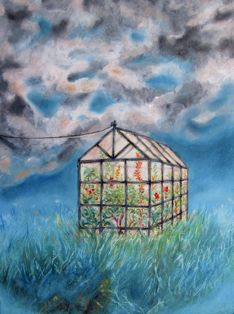 Oljepastellkrita på A3-akvarellpapper