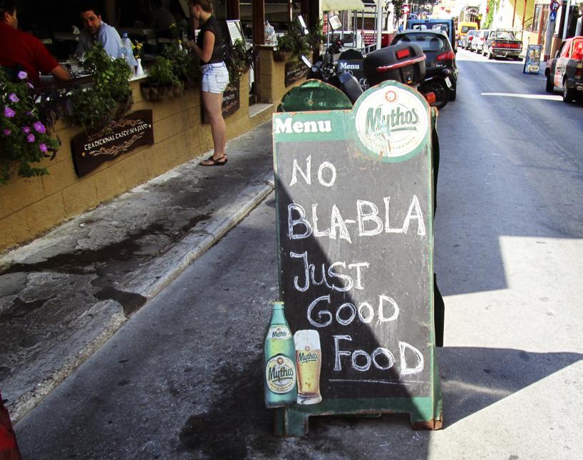 No bla-bla, just good food