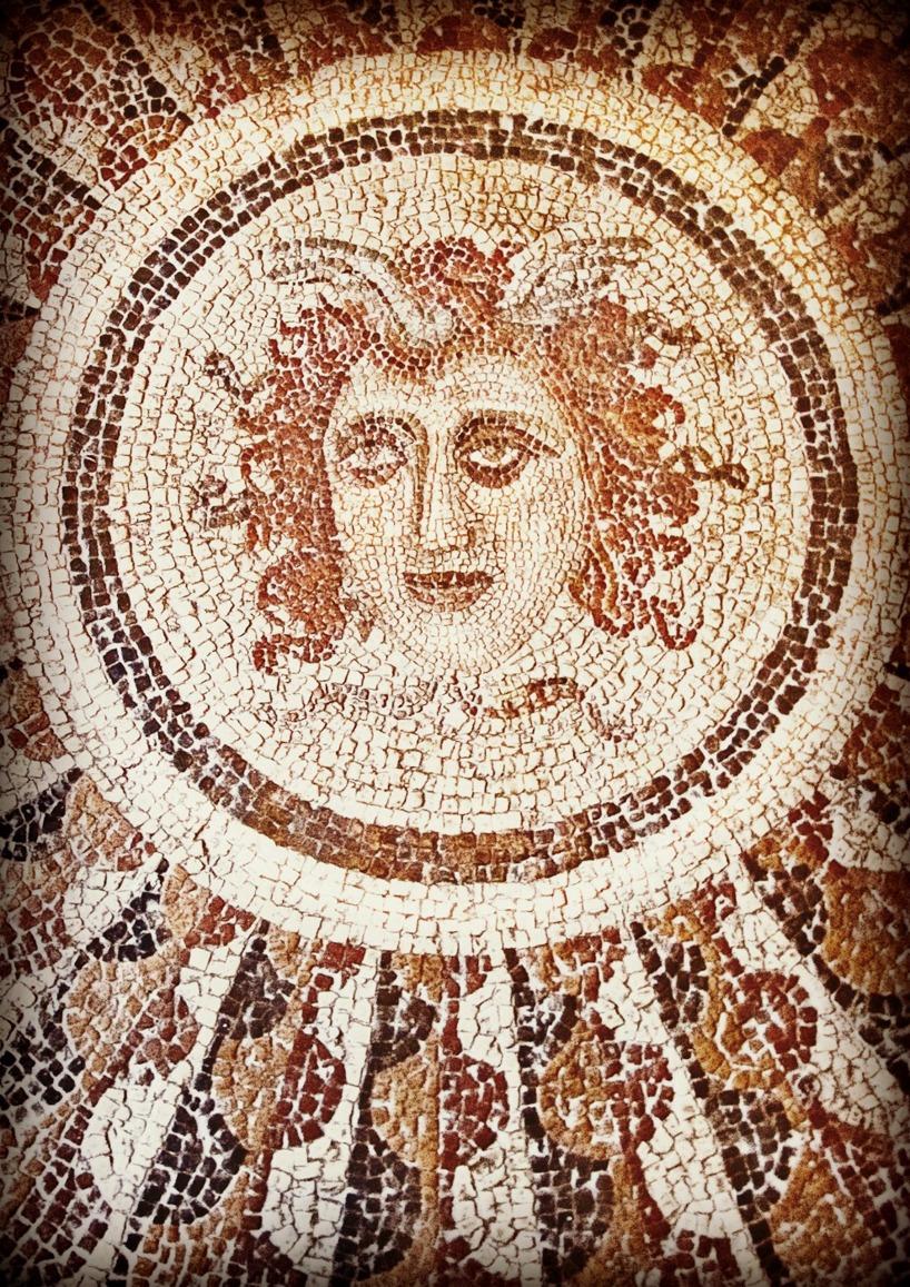 Medusa, mosaikgolv