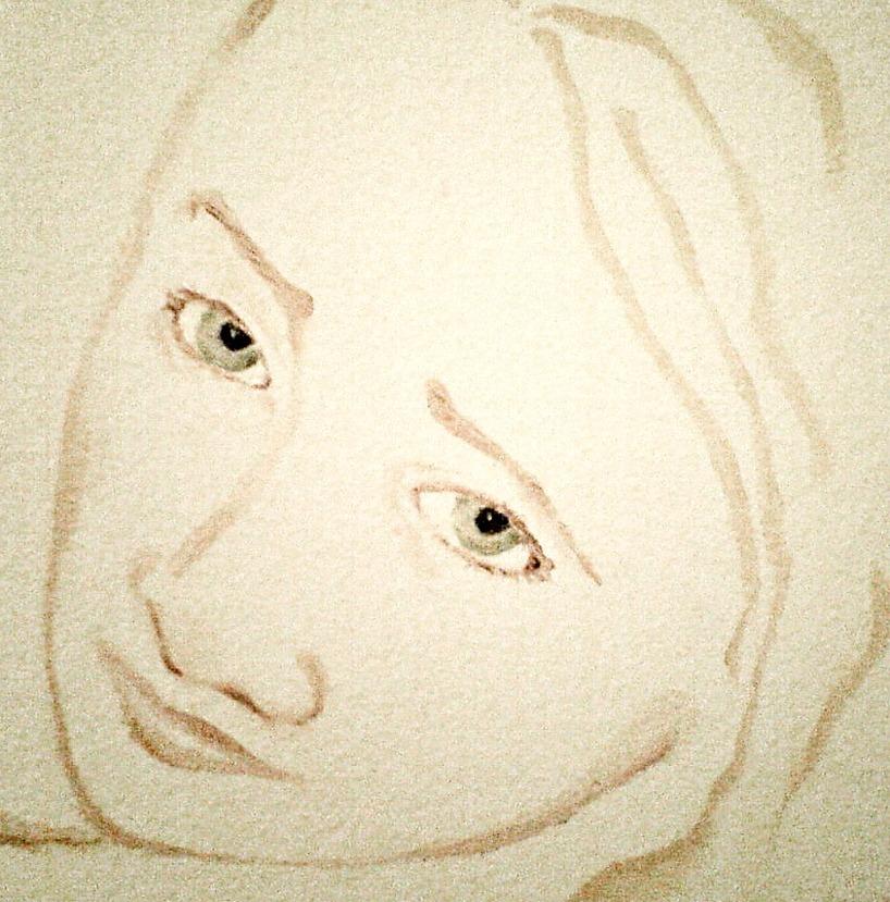 Ansikte från en väggmålning
