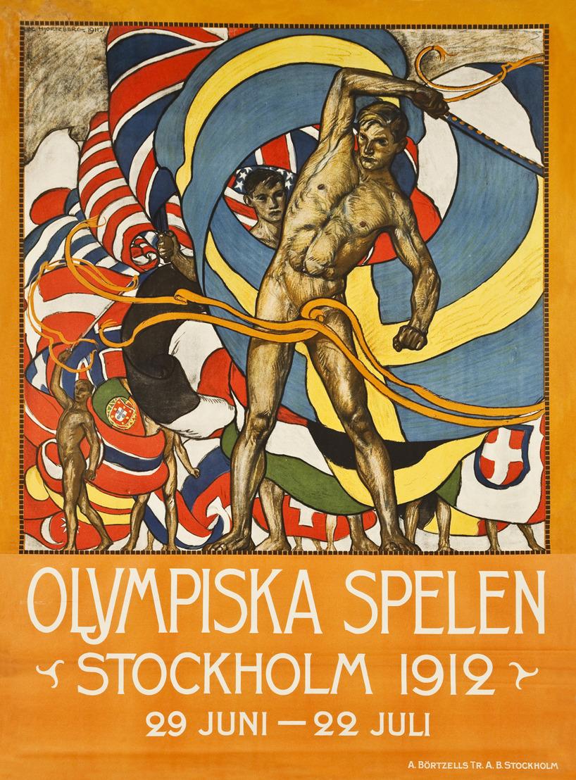 Affisch Olympiska spelen Stockhom 1912