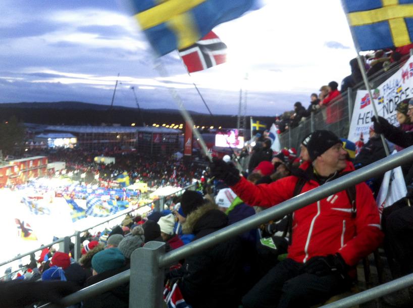På läktaren/VM i Falun 2015 backhoppning