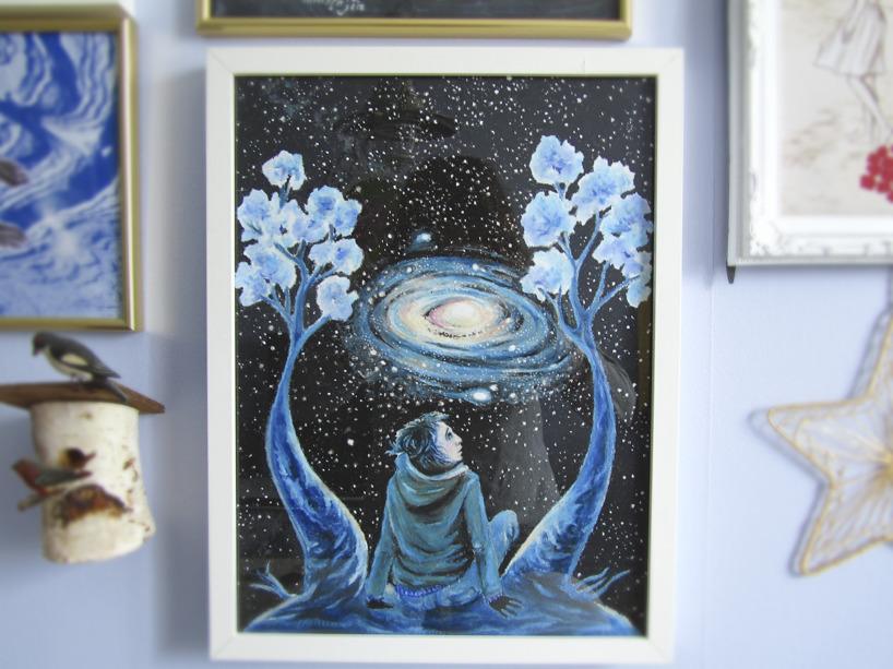 Galaxteckningen på väggen