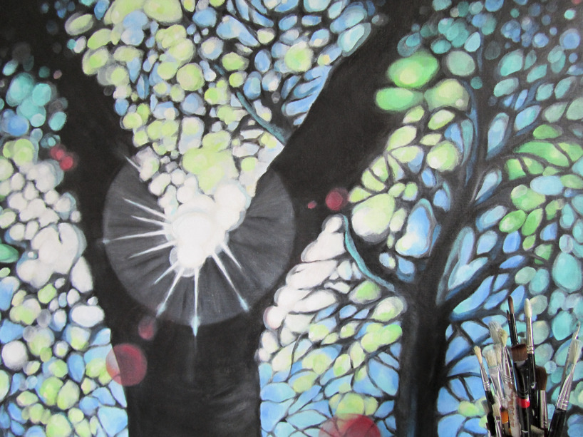 Akryl på duk 92 x 73 cm
