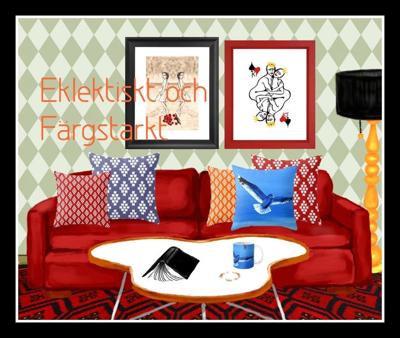 Interiörbild, Eklektiskt och färgstarkt