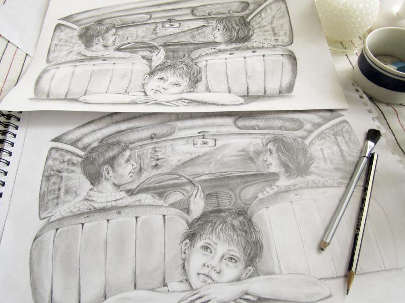 Teckningar i blyerts