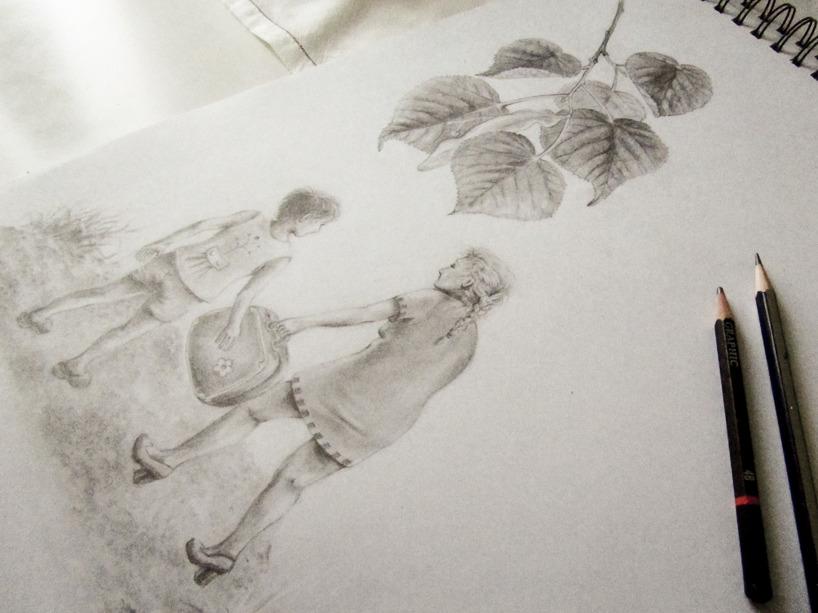 Teckning blyerts