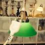 15 eller 20 cm - Skomakarlampor - vit, gul eller grön - Grön liten 150 mm INKL väggkontakt