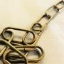 Cabinlamp i mässing - Tillval: 47cm äkta mässingskedja modell mindre, länkar 18x39mm