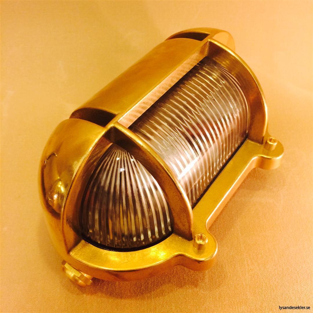 elektrisk vägglampa mässing metall galler krom fartyg bår skepp (9)