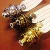 12''' rundbrännare (med 12''' veke) (Brännare till fotogenlampa)
