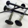Spik cirka 125 mm (rund) - Smidesspik cirka 125 mm rund skalle