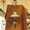 Fantastisk Majolika-fotogenlampa (äldre) - Takfotogenlampa majolika väderkvarnar