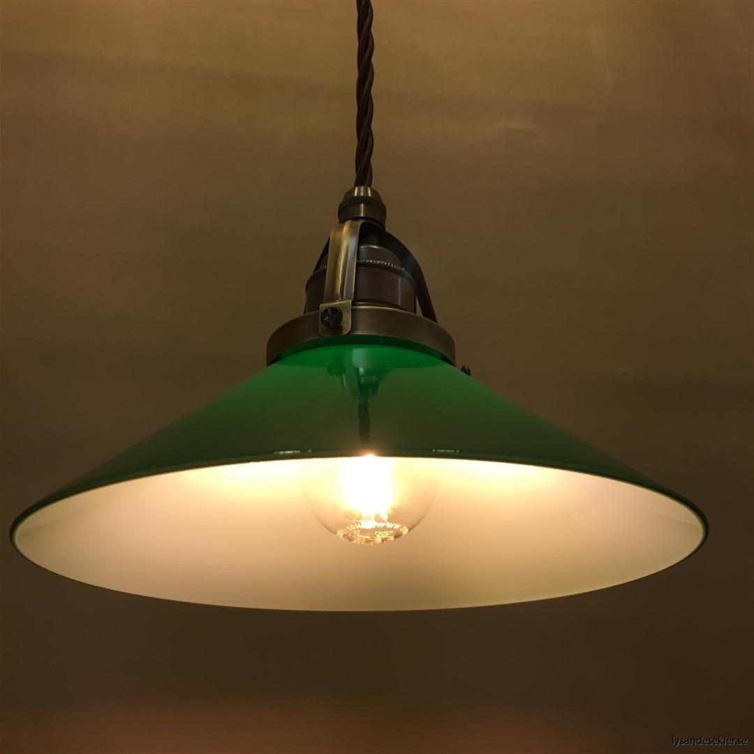 grön skomakarelampa tygsladd textilsladd (3)