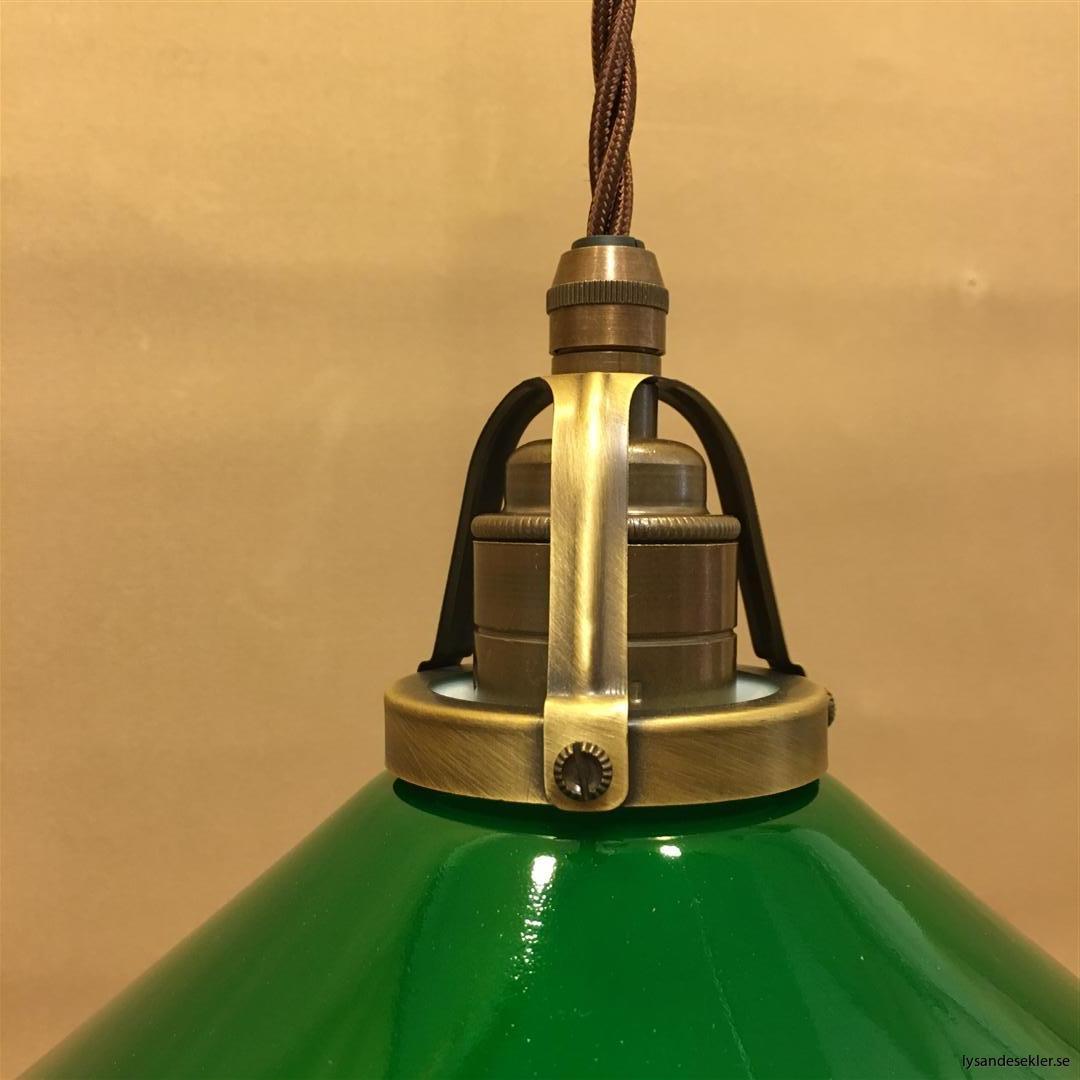 grön skomakarelampa tygsladd textilsladd (1)
