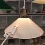 25 cm - Skomakarlampa - vit eller grön - Vit 250 mm INKL takkontakt