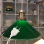 25 cm - Skomakarlampa - vit eller grön - Grön 250 mm INKL väggkontakt