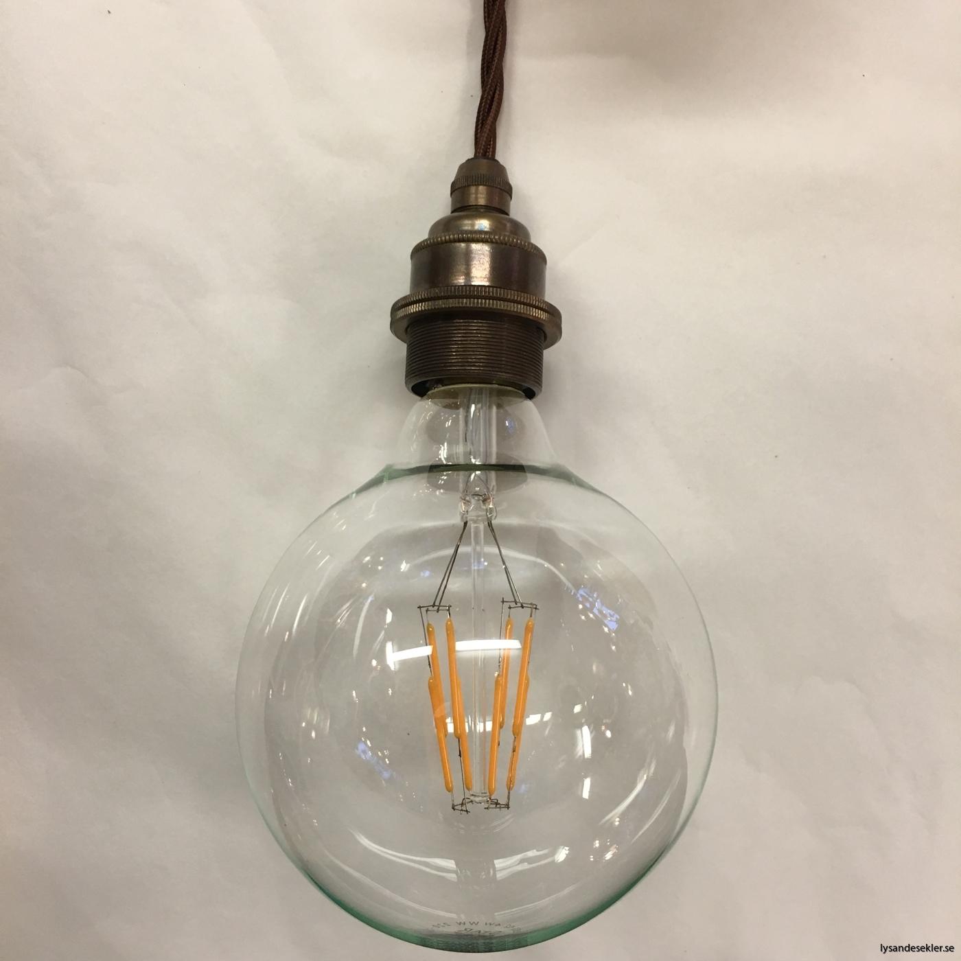 tygsladd textilssladd lampupphäng med 2 ringar utan skruvar för skärm eller glödlampa (41)