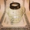 14''' hängoljehus (till bl.a. Torparelampor) glas/antikoxiderad (Oljehus till fotogenlampor)