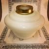 14''' korgoljehus i vitt glas / mässing (Oljehus till fotogenlampor)