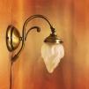 Vägglampa jugend med lilla flamman frostad - Vägglampa jugend med lilla flamman frostad