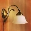 Vägglampa jugend med opalvit utsvängd klockskärm - Vägglampa jugend med opalvit utsvängd klockskärm