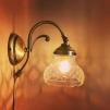 Vägglampa jugend med slipad glasklar klockskärm - Vägglampa jugend med slipad glasklar klockskärm