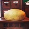 235 mm - Skärm gulmarmorerad stor - till Strindbergslampa