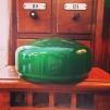 200 mm - Skärm mörkgrön mellan - till Strindbergslampa