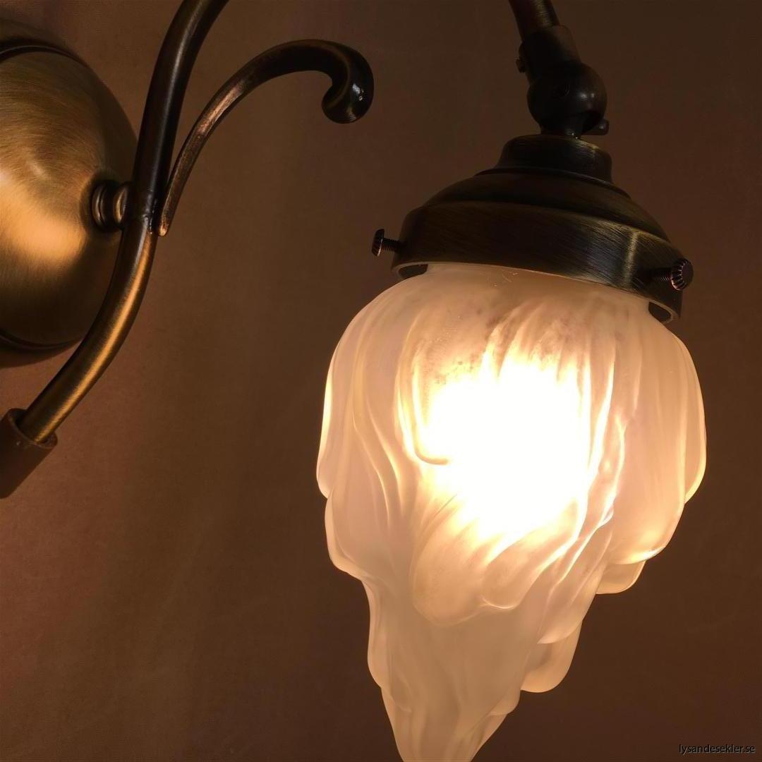 vägglampa jugend mässing elektrisk läslampa (98)