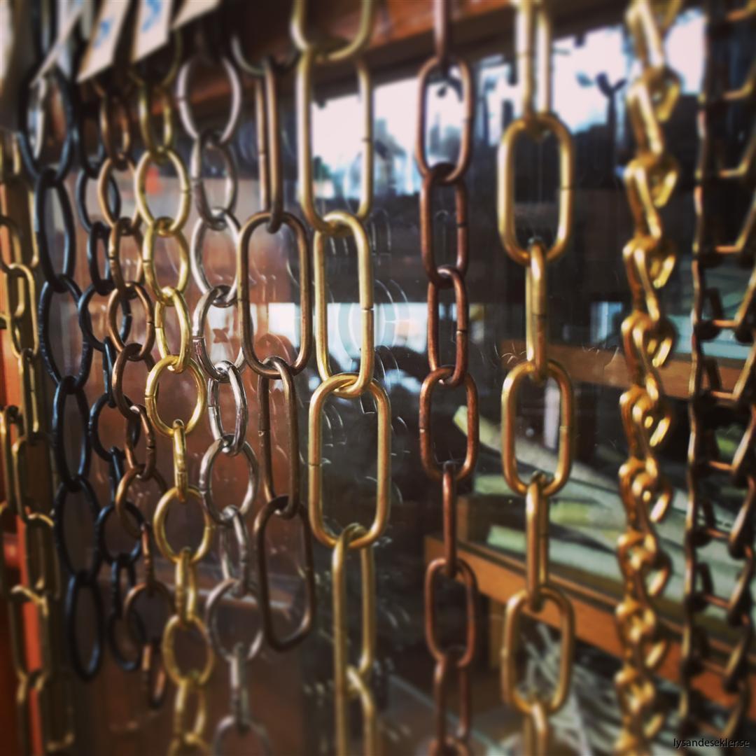 kedjor och kätting metervara löpmeter dekoration