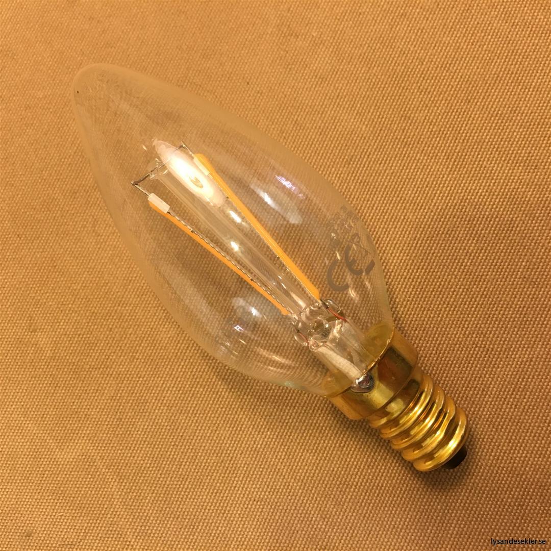 glödlampa kron E14 LED filament