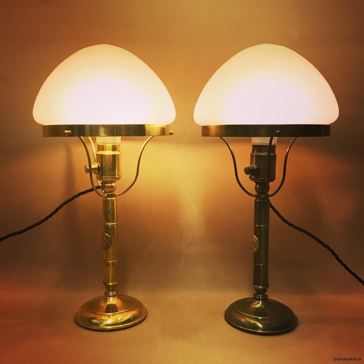 strindbergslampa frostad optikmatterad toppig skärm