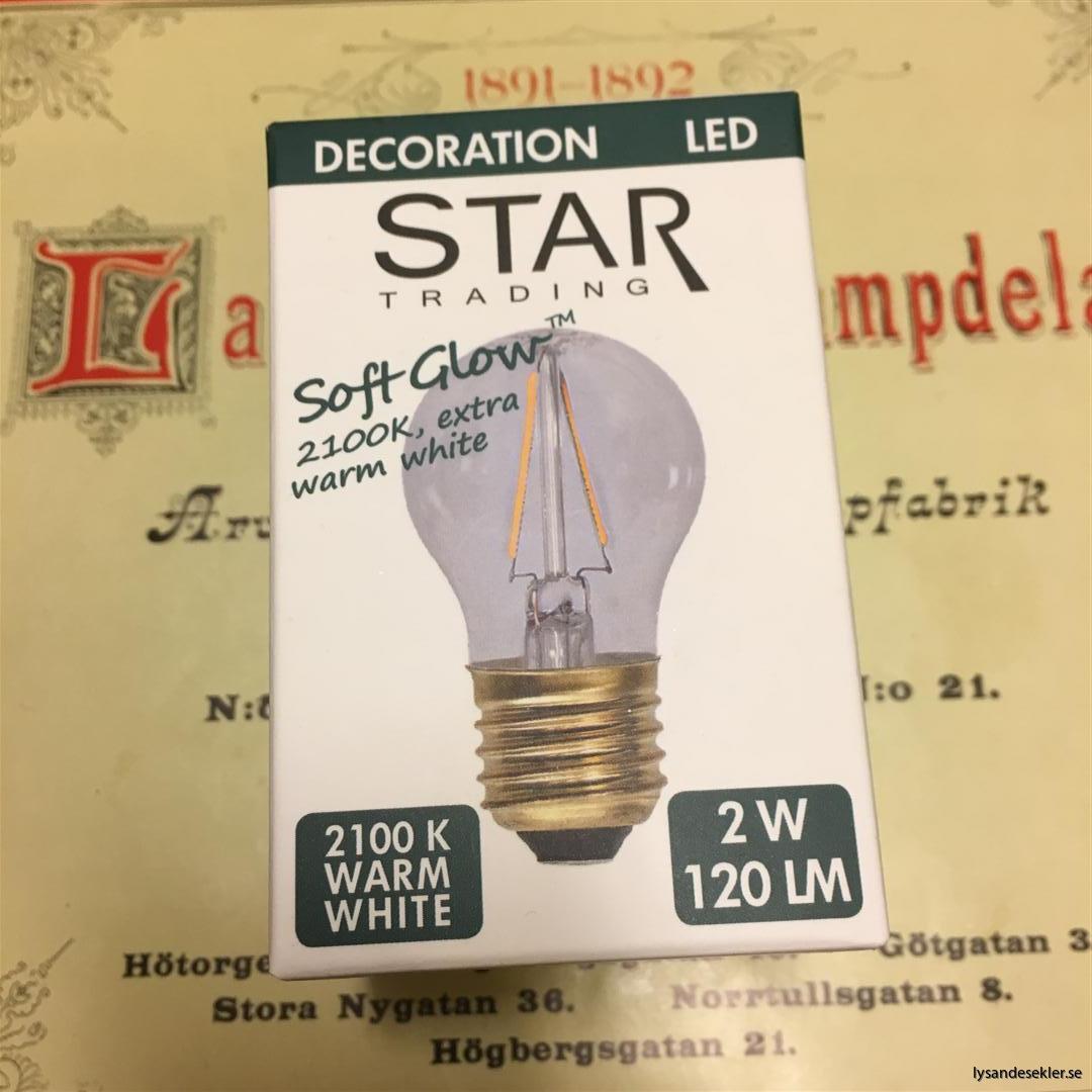 glödlampor LED koltråd filament varmt sken (7)