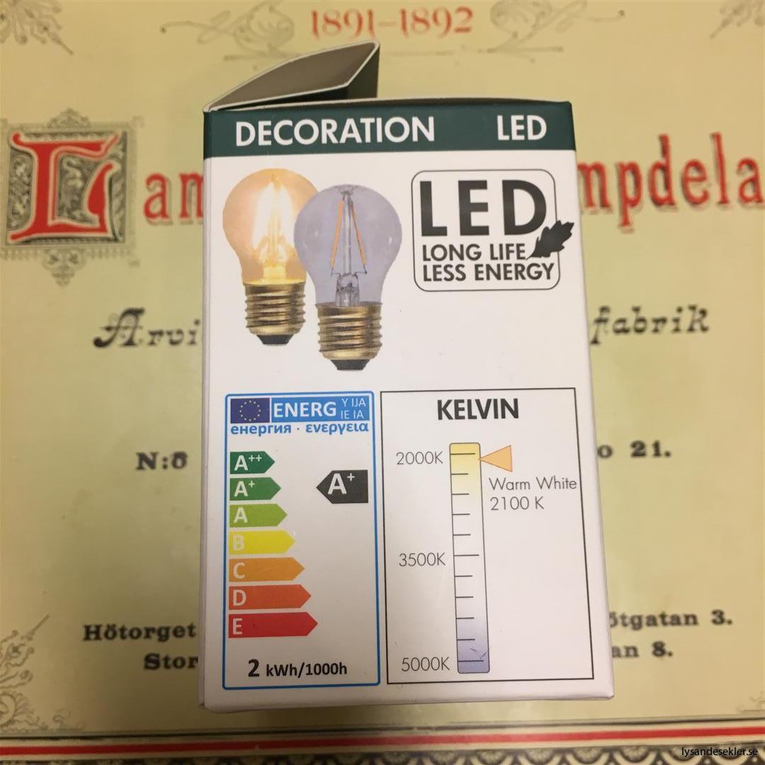 glödlampor LED koltråd filament varmt sken (10)