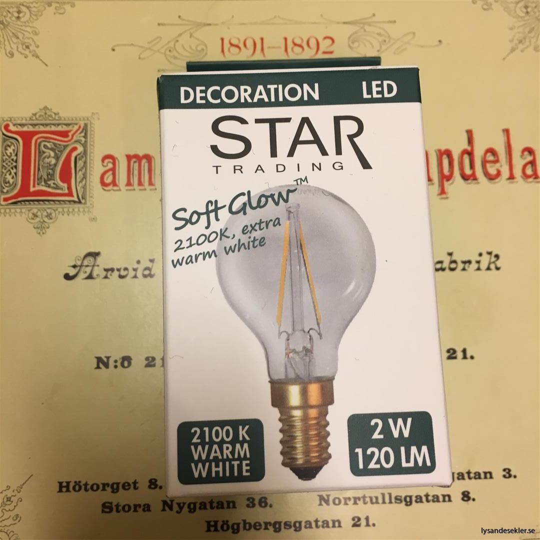 glödlampor LED koltråd filament varmt sken (3)
