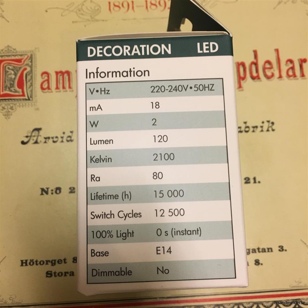 glödlampor LED koltråd filament varmt sken (4)
