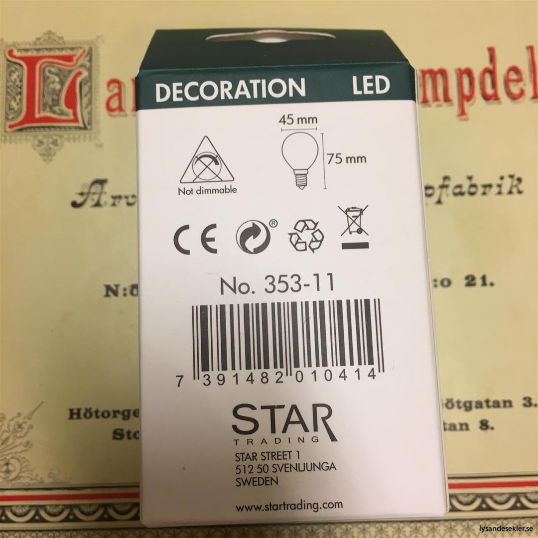 glödlampor LED koltråd filament varmt sken (5)