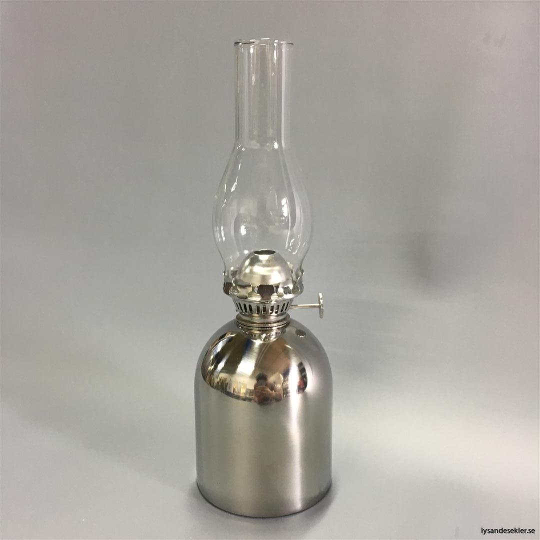 oljelampa fotogenlampa rostfritt stål loggi sampan sampanino dansk design