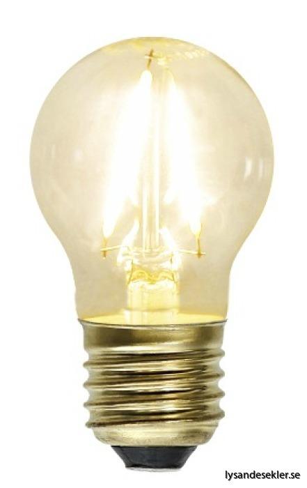 LED E27 litet klot varmt sken