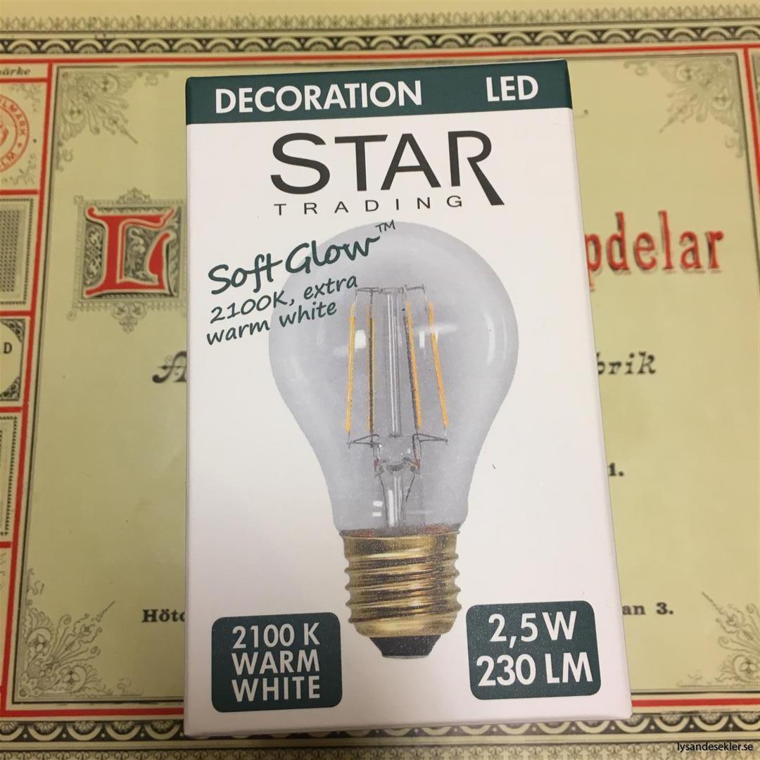 glödlampor LED koltråd filament varmt sken (11)