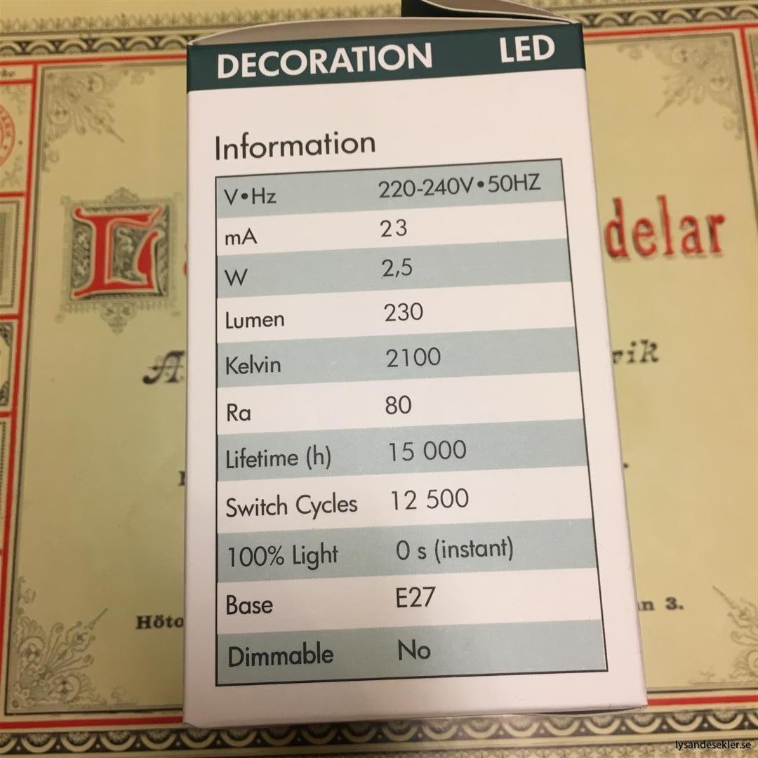 glödlampor LED koltråd filament varmt sken (12)