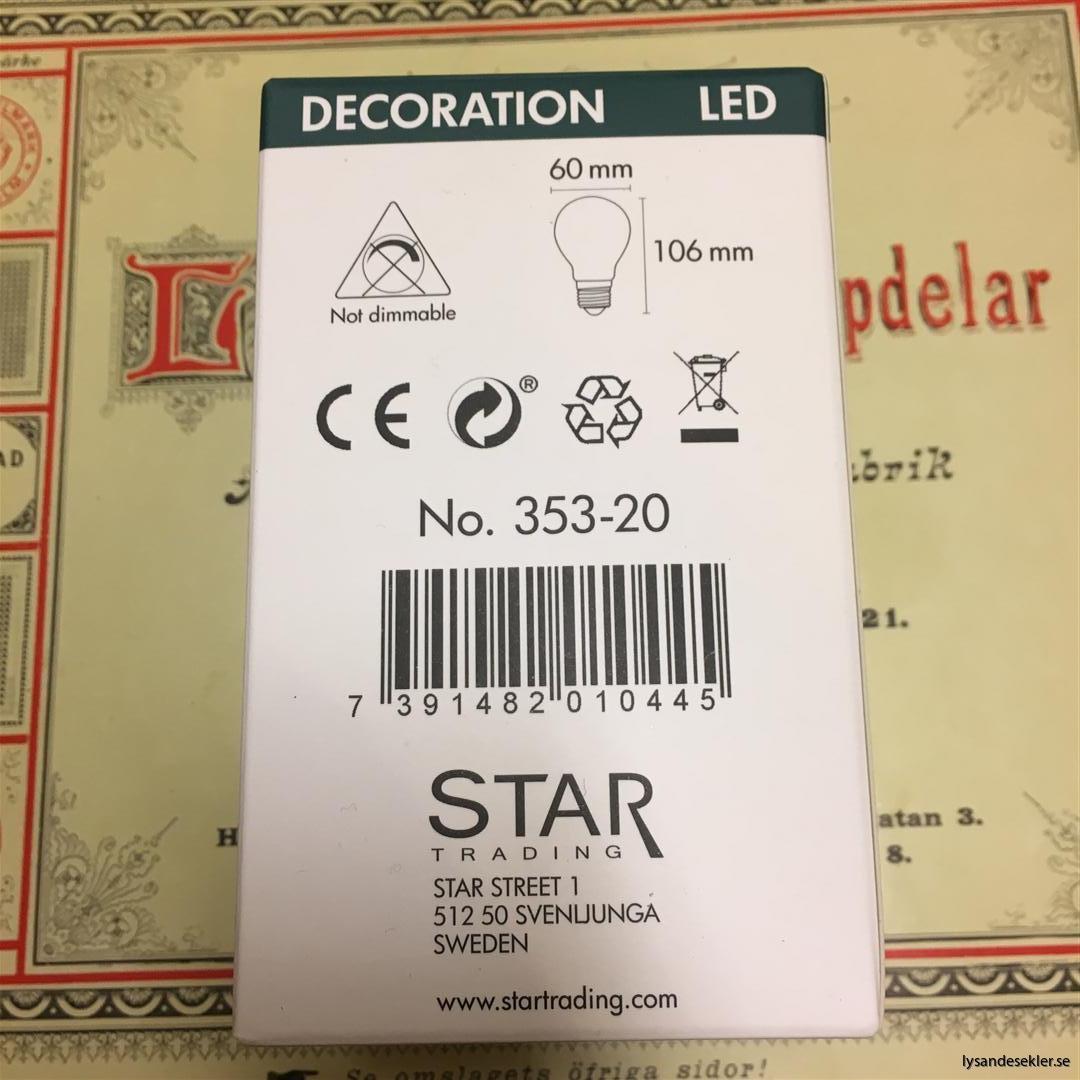 glödlampor LED koltråd filament varmt sken (13)