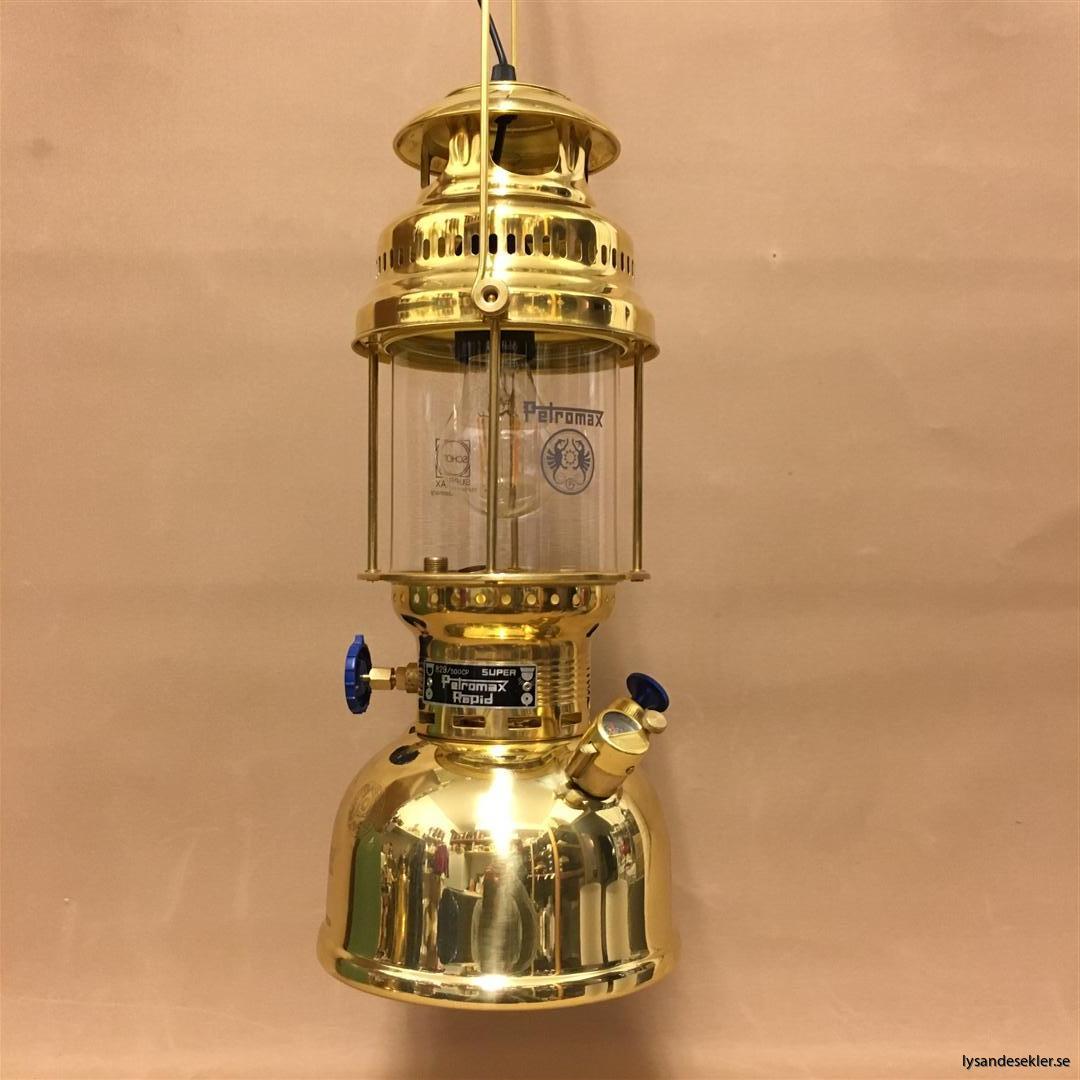petromax rapid mässing krom elektrisk elektrifierad bordslampa taklampa (59)